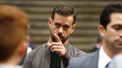 Jack Dorsey, CEO of Square and CEO of Twitter, arrives at the New York Stock Exchange for the IPO of Square Inc., in New York November 19, 2015. Square Inc priced shares at $9 for its initial public offering, about 25 percent less than it had hoped, as it struggled to win over investors skeptical about its business and valuation before trading begins on Thursday.