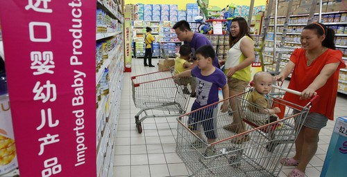 Buying infant milk powder is still a really scary thing in China