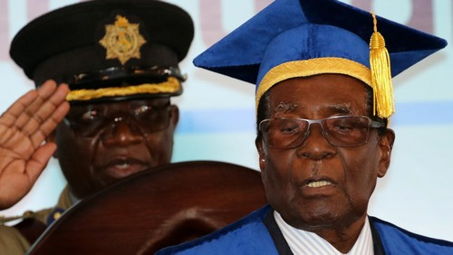 Robert Mugabe has emerged in public, but where's Grace?