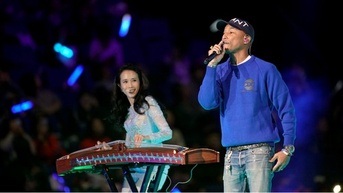 Watch: Pharrell's hilariously bad duet about Singles Day in China