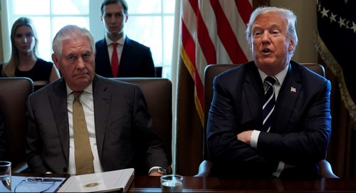 Other photos Trump could've picked to say he won't fire Rex Tillerson