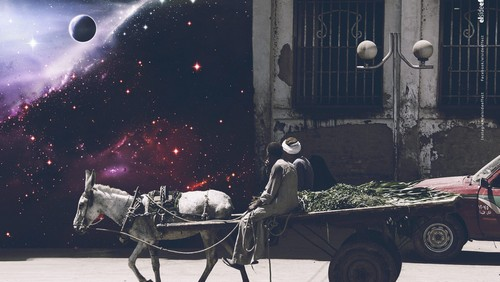 This photo collection visualizes everyday Egypt in outer space