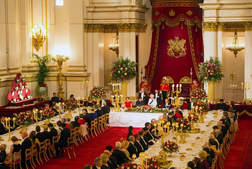 A state banquet at Buckingham Palace from October 20, 2015.