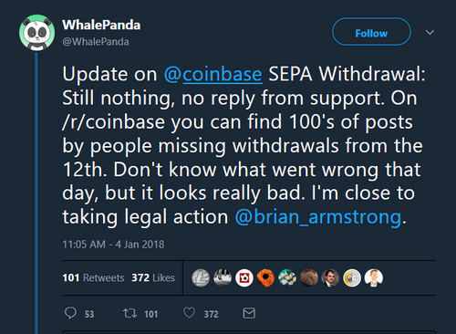 Coinbase Withdrawal Delays Leave Users Frustrated, Crying Foul