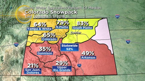 snowpack Latest Forecast: Finally, First Widespread Mountain Snow Since Christmas