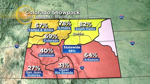 snowpack Latest Forecast: Storm In California Heading For Colorado Next