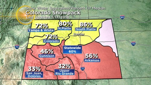 snowpack Latest Forecast: Windy & Mild Ahead Of Next Cold Front
