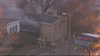 trailer fire 2 Mobile Home Fire Investigated As Arson; Bomb Squad On Scene