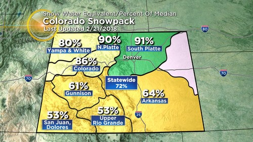 snowpack Latest Forecast: Sun Is Back With Gradual Warm Up