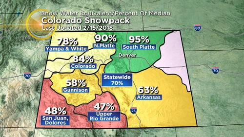 snowpack Latest Forecast: Windy & Warm Ahead Of Mondays Winter Storm