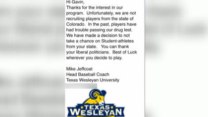 no potheads baseball 10pkg transfer frame 705 Baseball Coach Under Fire For Email To Hopeful High School Senior