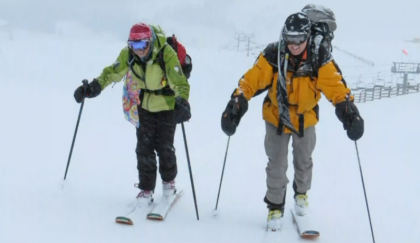 skinning 2 Summit County Couple Powers Through Winter By Skinning Uphill