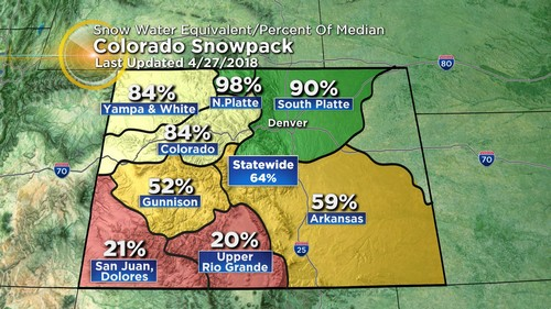 snowpack Latest Forecast: April Ending With Record Heat, May To Start Cool & Wet