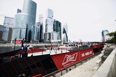 BUD Boat returns to the Moscow river