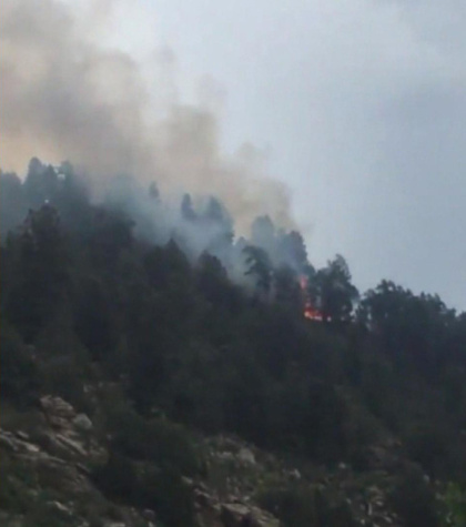 fire5 Eagle Rock Fire Breaks Out Near Conifer, Evacuations Lifted