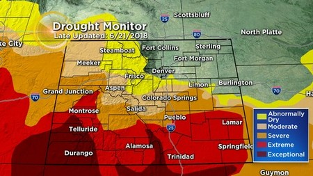 drought monitor Latest Forecast: Much Cooler With Scattered Storms, Some Severe