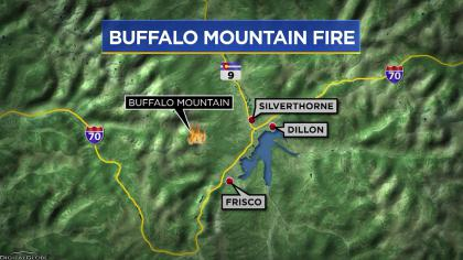 buffalo fire 7 No New Growth On Buffalo Fire Burning Near Silverthorne