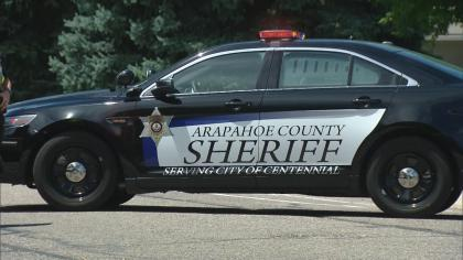 arapahoe county sheriff patrol car badge generic Suspect Taken To Hospital In Officer Involved Shooting