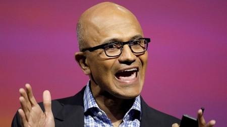 Microsoft's CEO Satya Nadella speaks at the Viva Tech start-up and technology summit in Paris, France