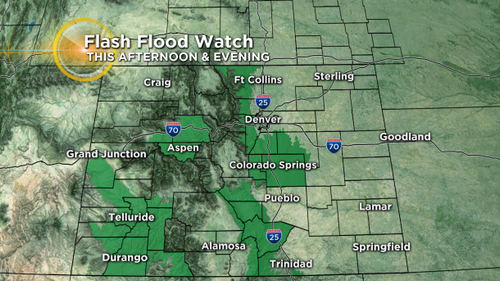 alerts flash flood chris2 Latest Forecast: Cooler With Widespread T Storms, Some Flash Flooding Possible