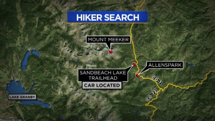 mount meeker search map frame 824 Man Goes Missing After Summiting Mount Meeker