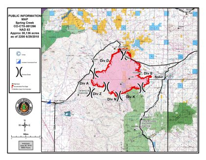 spring fire map credit spring fire fb More Firefighters Arrive To Tackle Spring Fire