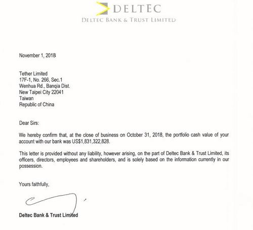Breaking: Tether (USDT) Confirms its Banking Balance and New Bank Account in the Bahamas