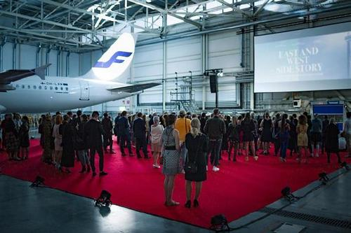The film premiere took place at Helsinki airport