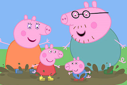 Peppa Pig: the vast majority of original UK children's TV is broadcast by the BBC