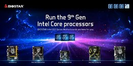 BIOSTAR Intel 300 Series Motherboards Support 9th Generation Intel Core Processors