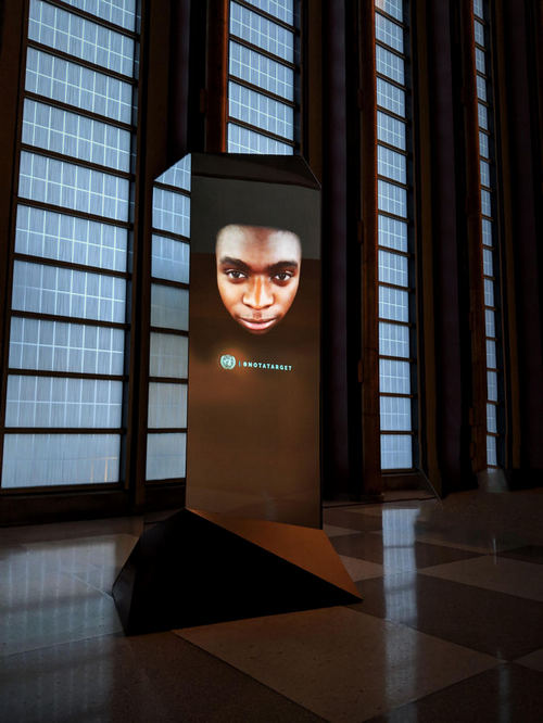 Stare-down world leaders with United Nations' 3D selfie petition