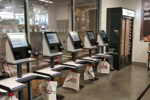 Cashless: up-to-date checkout machines are considerably faster than older models