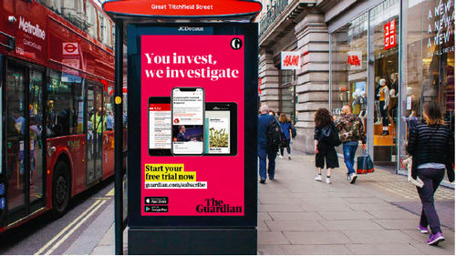 The Guardian adds 'support us' message to advertising