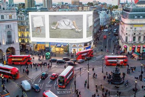 Victoria Beckham brand makes history with first-ever Piccadilly Circus livestream