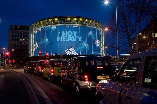 Bud Light: Among the big brands to favour the giant IMAX hoarding