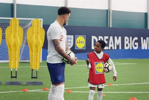 Lidl: signed up from 2015 to 2018 and focused on getting coaching for kids