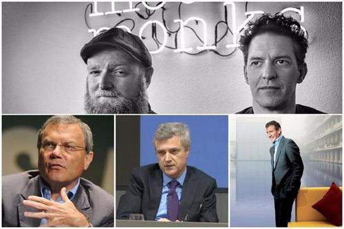 Clockwise from top: MediaMonks' Wesley ter Haar and Victor Knapp; Gustavo Martinez; Mark Read; Sir Martin Sorrell